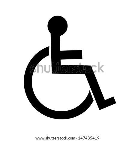 Disabled icon - stock photo