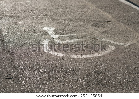Disabled parking sign - stock photo