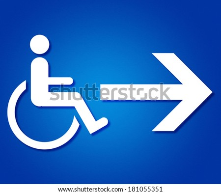Disabled Pictogram - stock photo