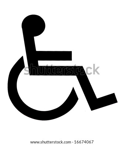 Disabled sign - stock photo