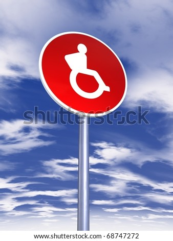 disabled sign for traffic