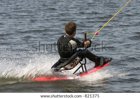 Disabled wakeboarder