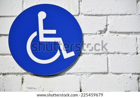 Disabled Wheelchair Sign - stock photo