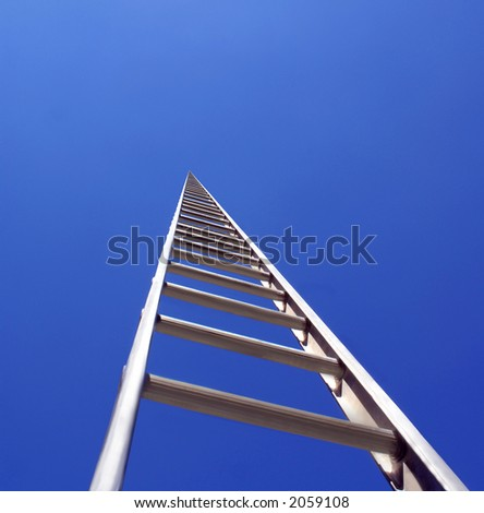Disappearing ladder - stock photo