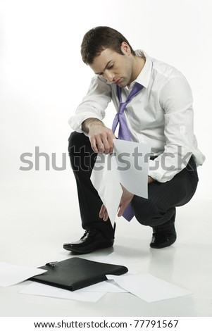 disappointed young businessman - stock photo
