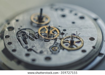 disassembled mechanical watches