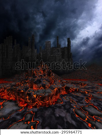 Disaster - stock photo