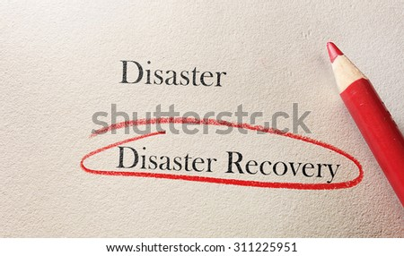 Disaster Recovery text circled in red pencil
