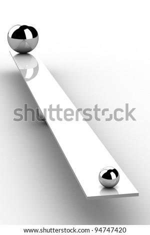 disbalance (high resolution 3D image) - stock photo