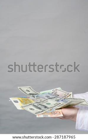 disbursement of money - stock photo