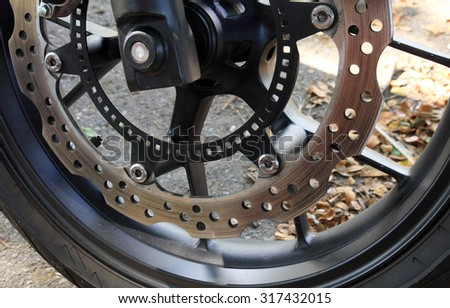 Disc brakes of a motorcycle