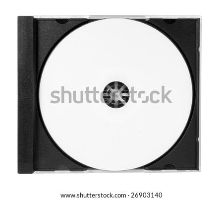 cd inlay template - cddvd empty jewel case with paths stock illustration