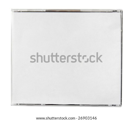 disc close up. disc  back cover case on white background with clipping path