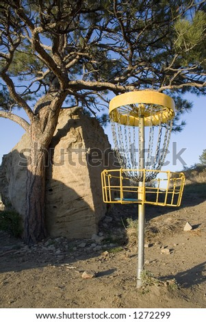 Disc Golf at Diamond X Park in Billings, Montana. - stock photo