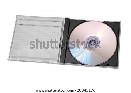 Disc in case - stock photo