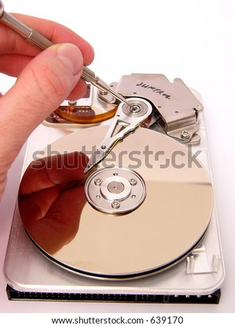 Disc service- parts - stock photo