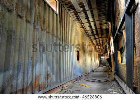 discarded building, flyover - stock photo