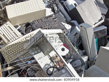 Discarded obsolete electronic equipment / computer scrap
