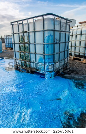 Discharge of waste chemicals - stock photo