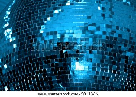 disco ball background / night club - stock photo