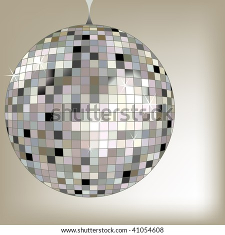 disco ball black, art illustration; for vector format please visit my gallery