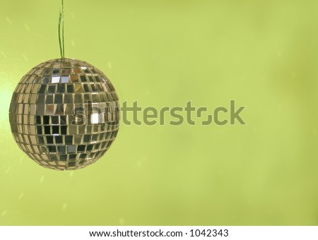 disco ball green background