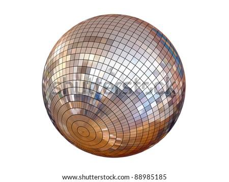 disco ball isolated - stock photo