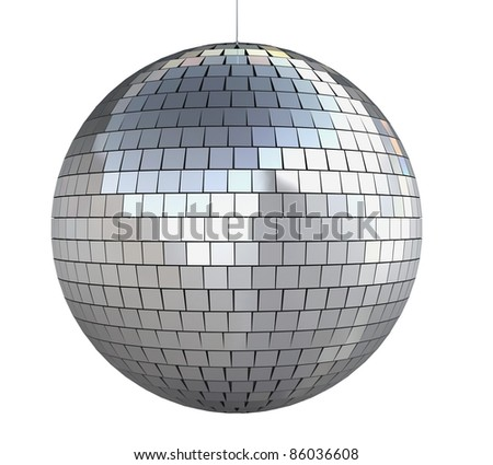 disco ball (isolated on white and clipping path) - stock photo