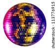 Disco ball - isolated on white background - stock photo