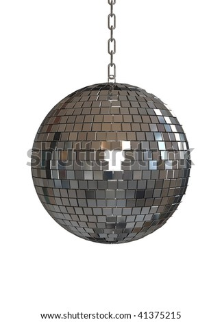 disco ball - isolated on white background - stock photo