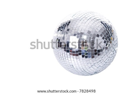 disco-ball isolated on white background - stock photo