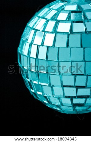 Disco ball on black
