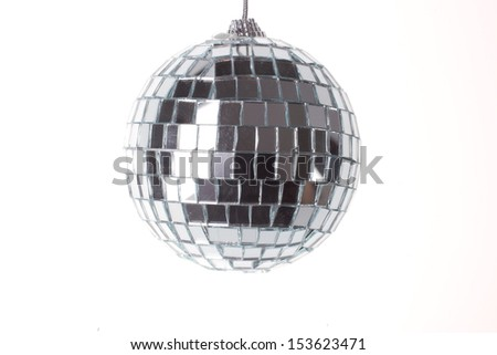 Disco ball over white - stock photo