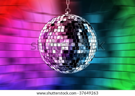 disco ball with lights - retro party background