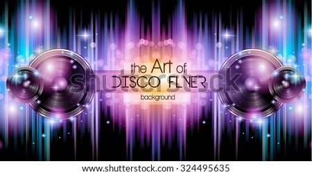 Disco Club Flyer Template Your Music Illustration 319627736 – Club Flyer Background