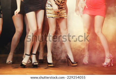 Disco dancing - stock photo