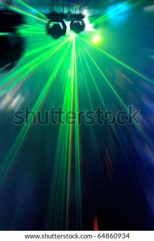 disco dancing people radial blur effect - stock photo