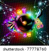 Disco Event Background with and Explosion of colurs! Ready for flyers and posters. - stock photo