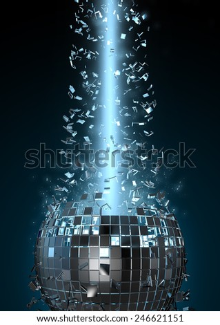 Disco explosion - stock photo