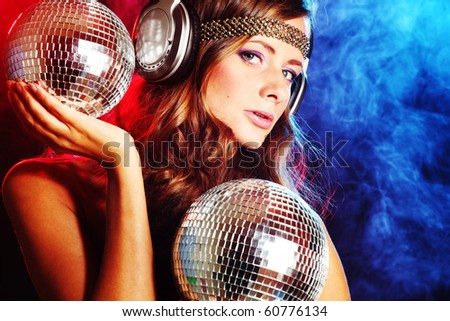 disco girl - stock photo