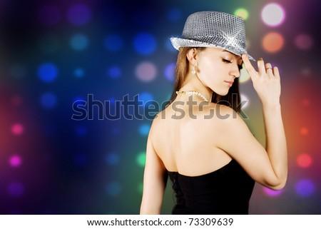 Disco girl - stock photo