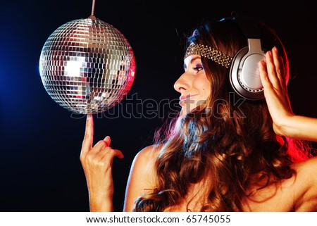disco girl music - stock photo