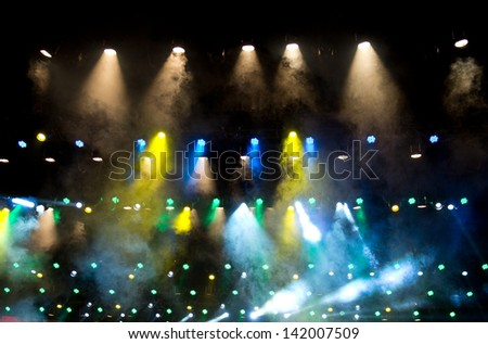 disco lighting in the stage. - stock photo