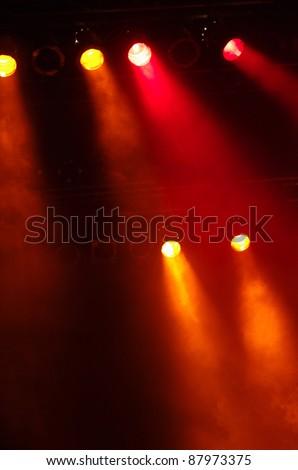 Disco lights at a big pop concert - stock photo