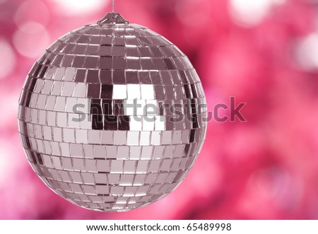 disco mirror ball on a light background - stock photo