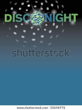 Disco night background. - stock photo