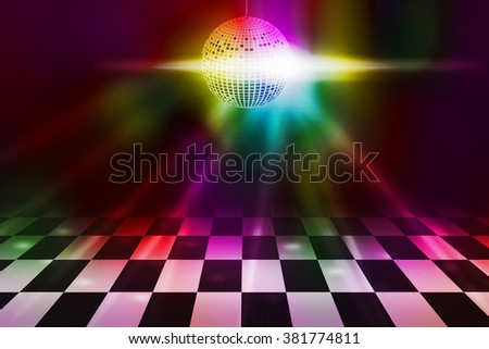 Disco Party Dance Floor Background - stock photo