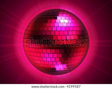 disco sphere - stock photo