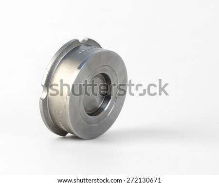 Disco Type Check Valvess are automatic automatically prevent the reverse flow of the medium - stock photo