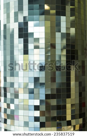 Disco wall background , mosaic background - stock photo